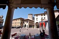 Café on Piazza Maggiora Square, Asolo, Veneto, Italy, Europe