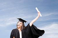 Young woman graduating