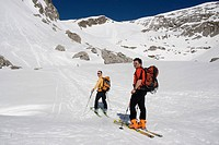 Ski tour to the Stadelfeld Alpine Pasture, Gesaeuse National Park, Styria, Upper Austria, Europe