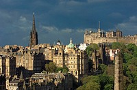Old Town from Calton Hill  Edinburgh  Lothian Region  Scotland  U K