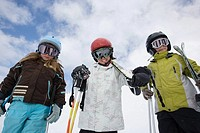 Children in ski goggles