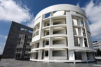 Modern Hypobank Building, designed by architect Richard Meier, Financial District, Plateau de Kirchberg, Luxemburg, Europe