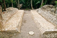 Mayan ballcourt. The ballcourt was the site of the ballgame, a ritual sport played by pre_Columbian prior to Europeans peoples across Mesoamerica, inc...