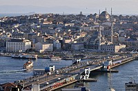 View of Galata Bridge, Istanbul, Turkey
