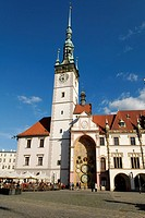 Oberring town square with townhall, Olomouc, Northern Moravia, Czech Republic, Europe