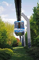 Suspension railway, elevated railway, university, Dortmund, North Rhine_Westphalia, Germany, Europe