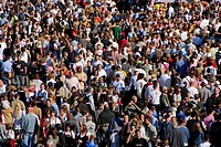 Crowds at the Oktoberfest, Munich, Bavaria, Germany