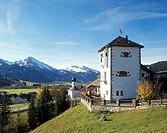 Graen Castle, Thannheim Valley, Tyrol, Austria, Europe