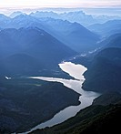 Sylvenstein Bridge, Sylvenstein Reservoir, aerial view, Isartal Valley, Karwendel Range, Upper Bavaria, Bavaria, Germany