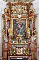 Altar of the parish church in Schoengau, Triestingtal, Lower Austria, Austria