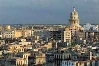 View of El Capitolo, national capitol building in Havana, Cuba, Caribbean, Americas