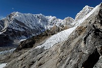 View from Kala Patthar (5550) towards Changri (6027), Khumbu Himal, Sagarmatha National Park, Nepal