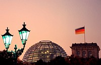 Reichstag at dusk, Berlin, Germany