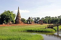 Temple Site, Ayutthaya Thailand, Siam, Asia