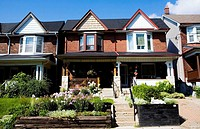 Victorian Houses, Beaches District, Toronto, Ontario, Canada