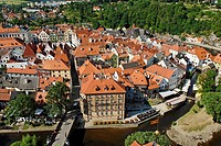 Historic old town of Cesky Krumlov, south Bohemia, Czech Republic