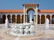 Lions fountain sephardic memorial courtyard ralli art museum caesarea. Israel