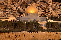 Dome of the rock temple mount old city jerusalem. Israel.