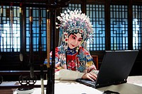 Actress Dressing As Beijing Opera Characters,China