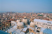 Italy _ Venice _ Saint Mark's Basilica _ view on the five domes
