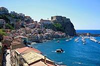 Italien, Kalabrien, I-Scilla, Skylla, Provinz Reggio Calabria, Reggio di Calabria, Costa Viola, Strasse von Messina, Meerenge von Messina, Stadtansich...