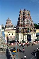 Koodal Aihagar temple Vishnu in Madurai , Tamil Nadu , India