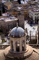 Cathedral minaret from Giralda, Sevilla, Spain