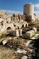 Historic city walls of the citadelle of Aleppo, Syria