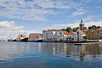 Ships at Skagen Quay, Stavanger (European Capital of Culture 2008), Norway, Europe