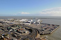 Dover Port. The UKs Busiest Seaport to Mainland Europe. Dover, Kent, England.