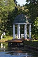 Gazebo in the gardens at Palmse Manor, Estonia, Europe