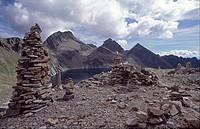 Stone formations at Reisseck, Hohe Tauern Range, Carinthia, Austria, Europe