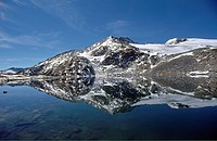 Reflection, Oberer Schwarzhornsee, National Park Hohe Tauern, Carinthia, Austria