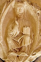 Romanesque Pantocrator in the cathedral, Burgos. Castilla-Leon, Spain