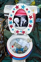 a entry in decorating the toilet contest in Gaithersburg, Md