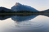 Mt Rundle, Vermillion Lake & ripple, Banff National Park, Alberta, Canada