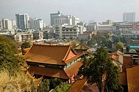China. Yunnan Province. Kunming: High Angle View of Yuantong Temple, the largest temple in Kunming, over 1000 years old
