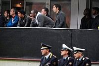 olivier dacourt, patrick vieira e luis figo in the stand,milan 26_10_2008 ,italian soccer championship 2008/2009, serie a,inter_genoa 0_0,photo paolo ...