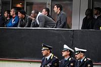 olivier dacourt, patrick vieira e luis figo in the stand,milan 26_10_2008 ,italian soccer championship 2008/2009, serie a,inter_genoa 0_0,photo paolo ...