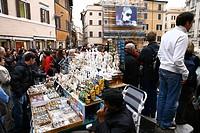 tourists, fontana di trevi, rome, italy