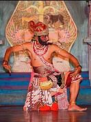 "Dancer, traditional ""kecak"" Ramayana monkey dance, Yogyakarta, Indonesia"