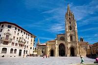 San Salvador Cathedral. Plaza de Alfonso II el Casto. Oviedo. Asturias. Spain