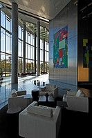 Foyer of the Post Tower, Bonn, NRW, Germany,