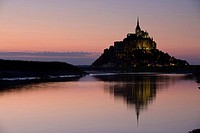 France, Europe, Mont Saint_Michel, Architecture, Church, Coast, Sea, Ocean, Summer, Water, UNESCO, World heritage site