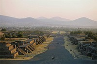 Viewn from the pyramid of the moon, Teotihuacan near Mexico City, Mexico