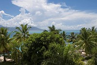 View of Moorea from InterContinental Tahiti Resort Hotel, Tahiti, Society Islands, French Polynesia