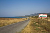 North coast, coastal landscape and coast road to Karpasia, Karpass Peninsula, North Cyprus, Cyprus