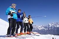 CHE, Switzerland, Canton St. Gallen : Wintersport area in the vacation region of Heidiland, Pizol mountain
