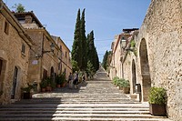 Way of the Cross 365 Steps on Calvary Hill, Pollensa, Mallorca, Balearic Islands, Spain