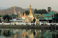 Wat Chong Klang and Kham temple, Mae Hong Son, North Thailand, Thailand